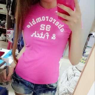 AF T恤 粉色 xs 正品