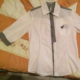 R37 潮流 白襯衫