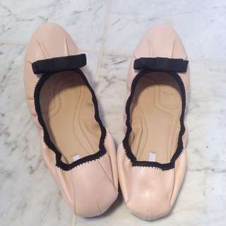 Like New Geox Leather Ballet Flats Size 7.5