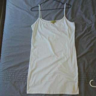 White Long Singlet/dress