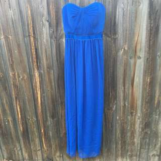 Portmans Electric Blue Strapless Dress