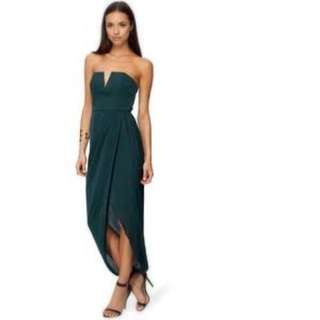 Shona Joy Keystone Bustier Drape Dress