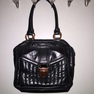 Mimco Black And Rose Gold Bag