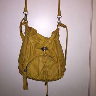 Mimco Bag Mustard Colour