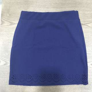Mini Skirt With Scallop Hem