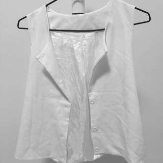 白色西裝背心 上衣