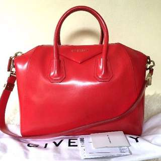 Givenchy Antigona In Bright Red