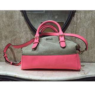 Kate Spade Canvas Leather In Neon Pink