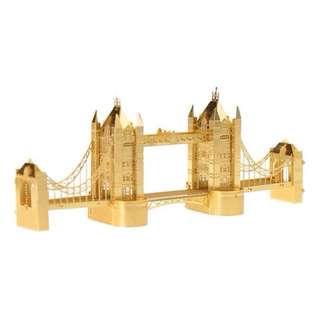 【阿齒】DIY 3D金屬模型 倫敦鐵橋(金色) / 另售巴黎鐵塔 姬路城 雪梨歌劇院 3D金屬拼圖