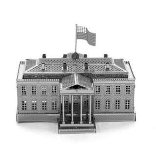 【阿齒】DIY 3D金屬模型 美國白宮 / 另售巴黎鐵塔 比薩斜塔 姬路城 雪梨歌劇院 3D金屬拼圖