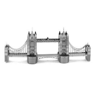 DIY 3D金屬模型 倫敦鐵橋 (滿千免運) 另售巴梨鐵塔 凱旋門 姬路城 比薩斜塔 摩天輪 3D金屬拼圖