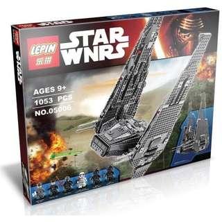 【阿齒】樂拼05006 星際大戰 原力覺醒 Kylo Ren 指揮穿梭機/指揮戰機/與LEGO相容/非樂高75104
