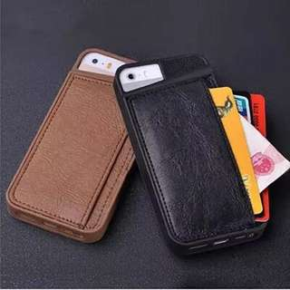 Multifunction Card Wallet iPhone 5/6/plus Protective Leather Soft Case