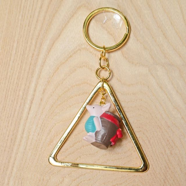 ❤️金三角框復刻小豬鑰匙圈