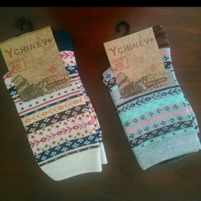 🇯🇵波希米亞民族風純棉中筒襪