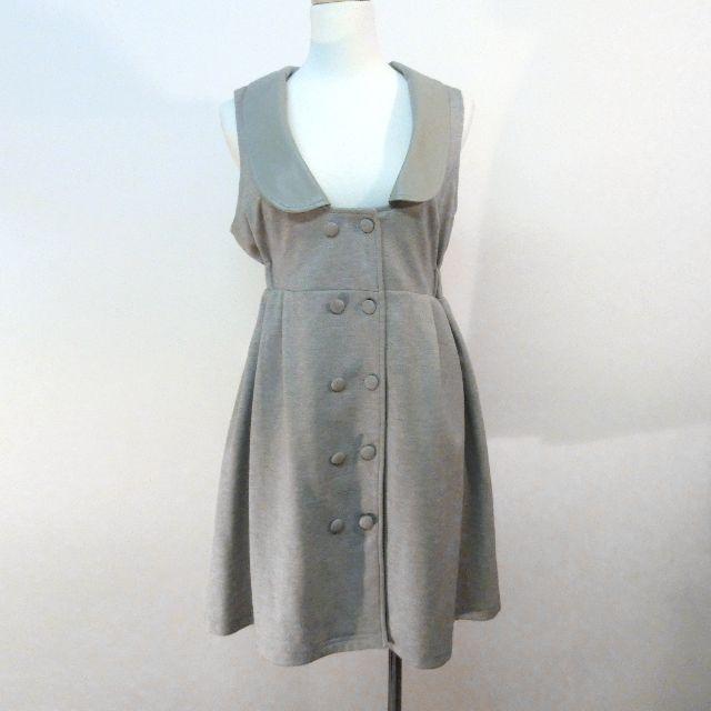 灰色無袖洋裝