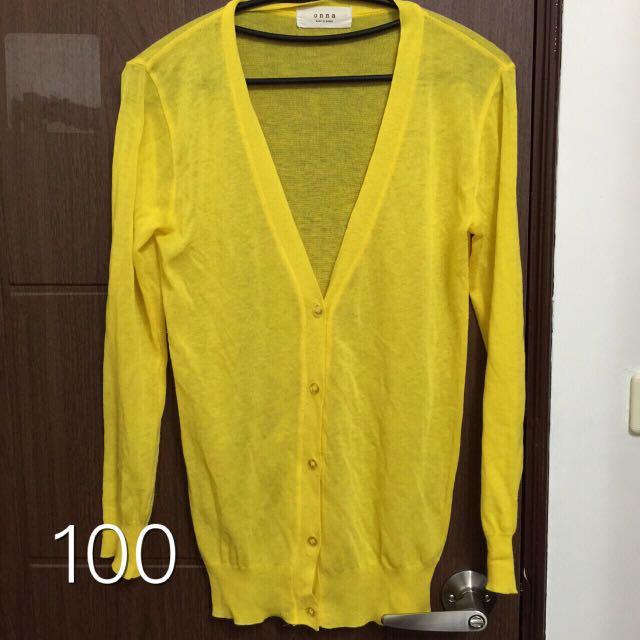 亮眼黃色罩衫