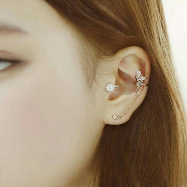 精靈耳骨夾耳環鍊