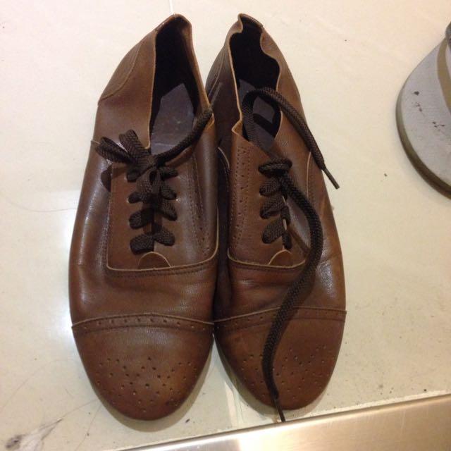 全館大降價❗️羊皮專櫃皮鞋 23.5號