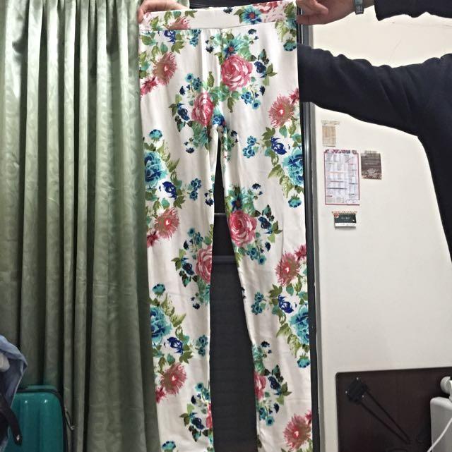 花 內搭褲