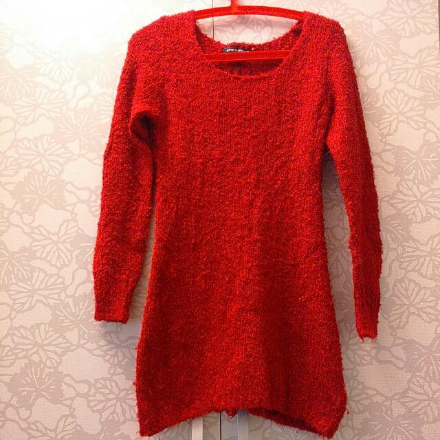 紅色 連身裙