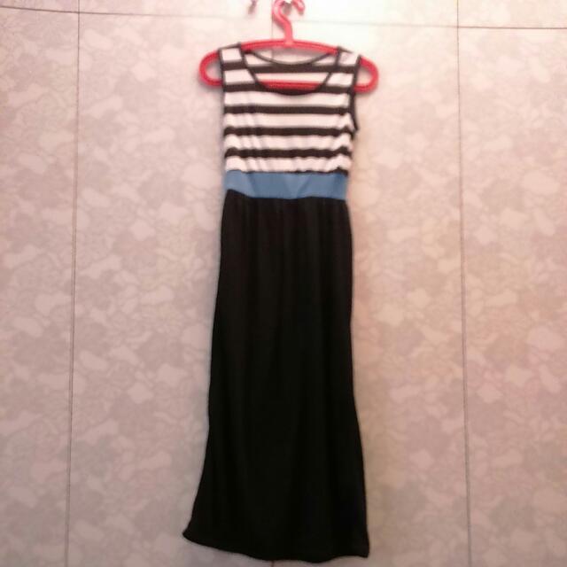 條紋 連身裙