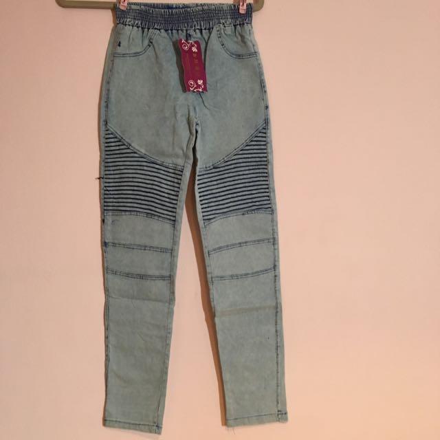 全新)內搭牛仔褲 淺藍