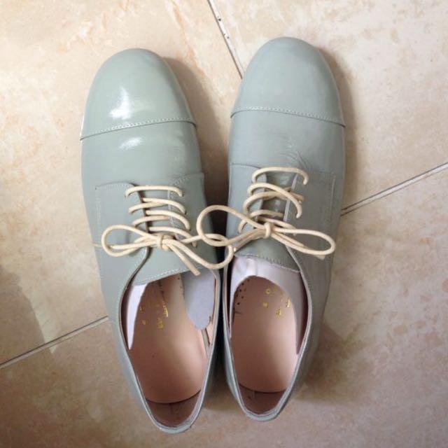 韓 馬卡龍 牛津鞋 23.5