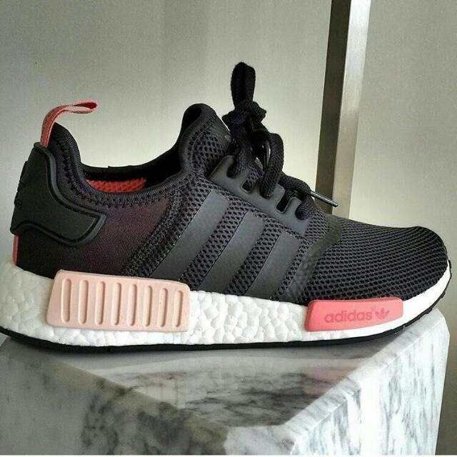 brand new 18aee 15273 Adidas NMD_R1 Shoes (Core Black), Women's Fashion on Carousell
