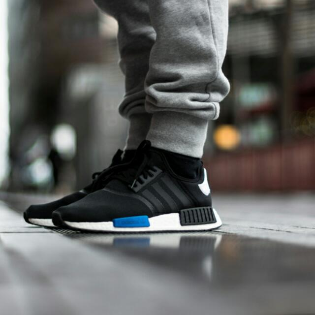 online retailer 8960b f0ba8 Adidas NMD_R1 Shoes (Core Black), Men's Fashion on Carousell