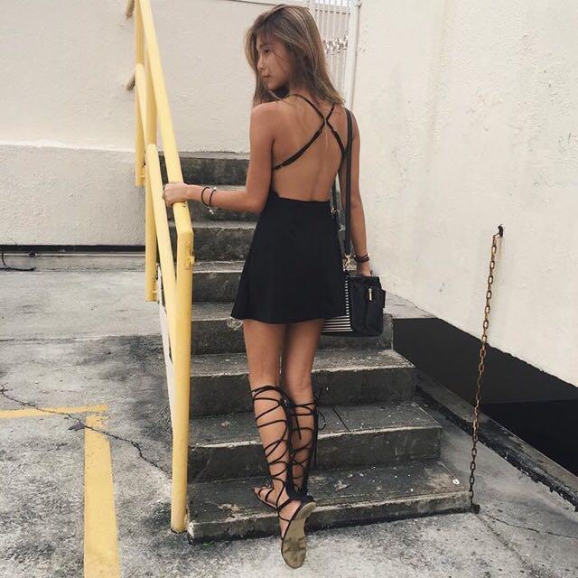 Black bareback Dress