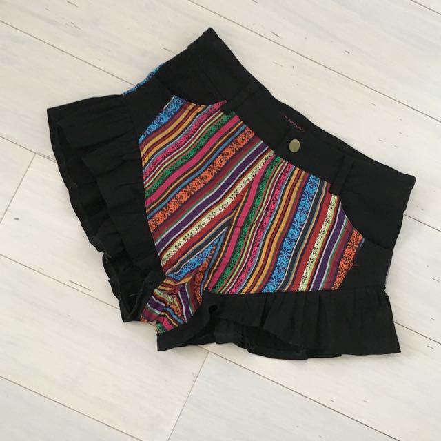 Colourful High Waisted Shorts