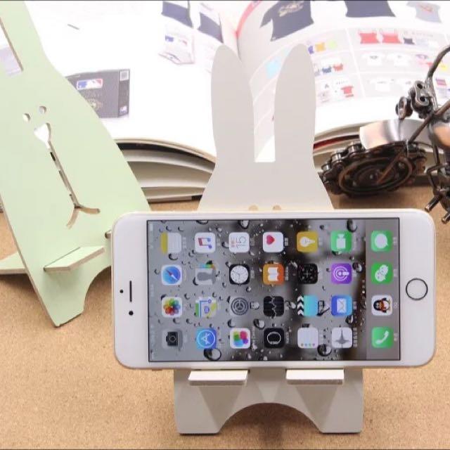 Green Rabbit Cell Phone Holder