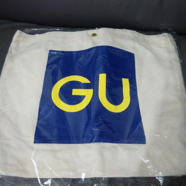 GU 肩背購物袋
