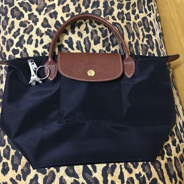 Longchamp 黑色短把M 正品