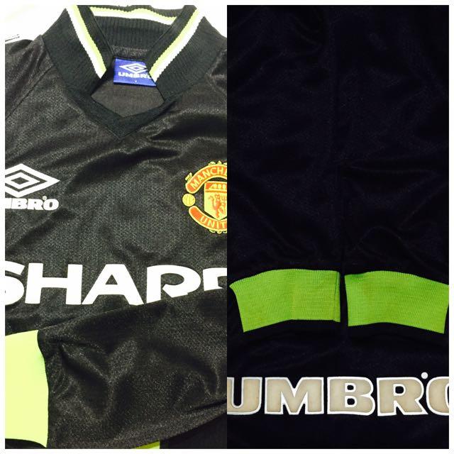 Manchester United Retro Kit 98 99 Black Long Sleeve Away Kit 67cfd4579