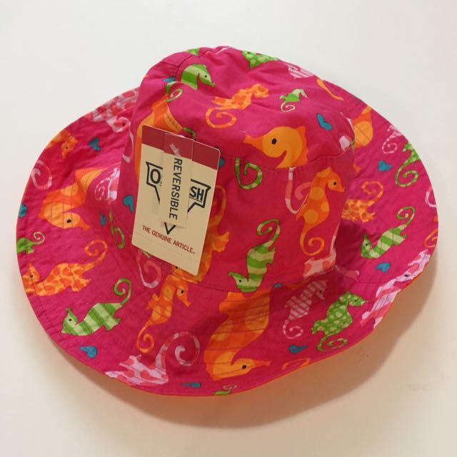 美國OshKosh B'gosh 小女孩2-4Y 雙面抗UV 遮陽帽