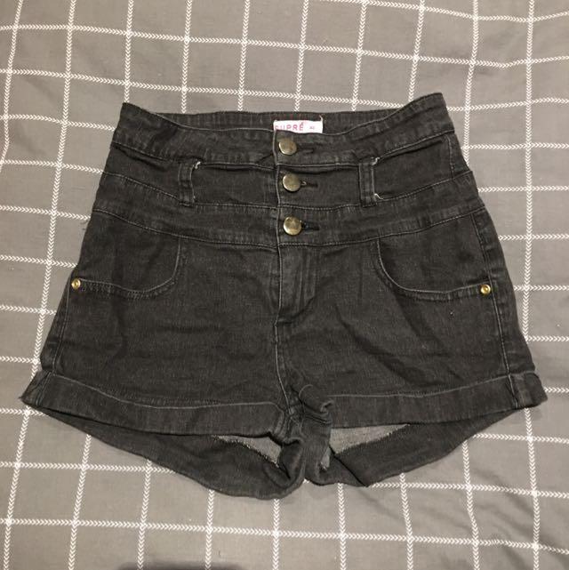 Supre denim high waisted shorts sz XS