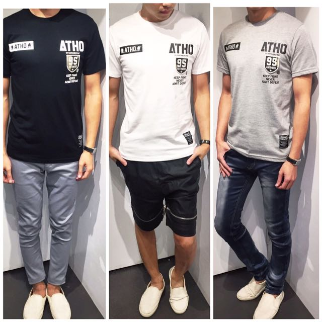 「免運費」《穿搭空間》潮!拼布造型短袖t shirt(三色)