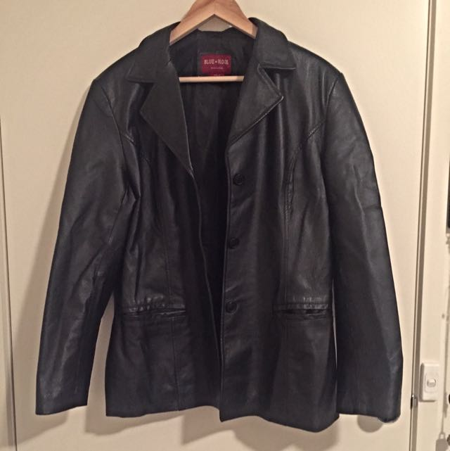 VINTAGE 90s Genuine Leather Jacket