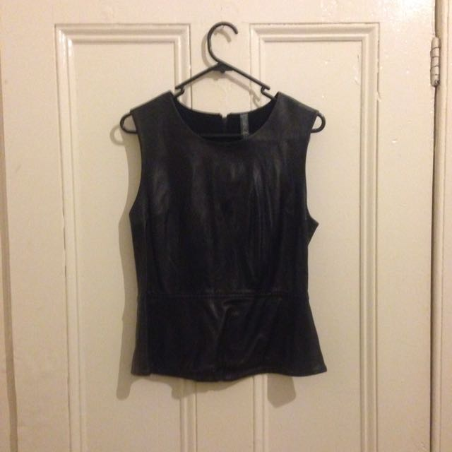 Zaccaria Leather Top Size 8