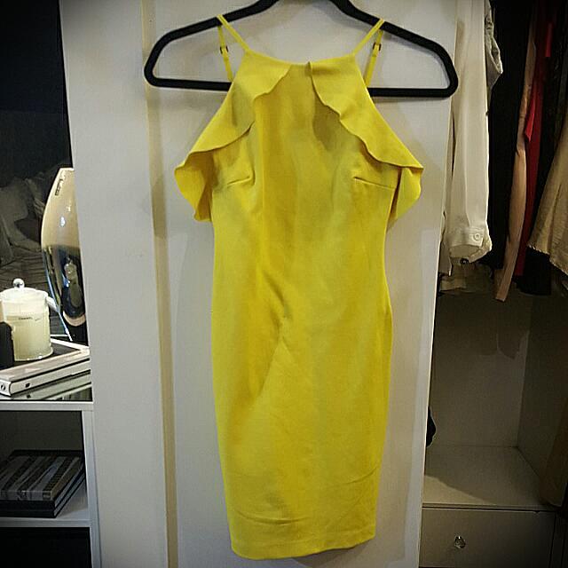 ZARA Trafaluc Yellow Dress
