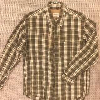 Edwin墨綠格紋襯衫💚