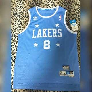 NBA球衣  Kobe復古四星藍
