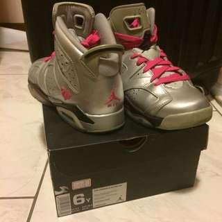[二手]Air Jordan 六代銀色情人節限定版