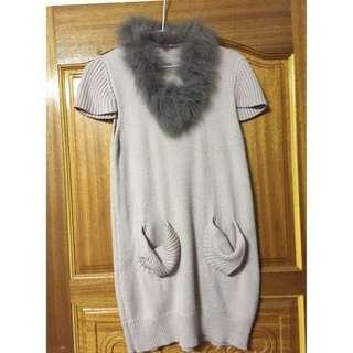 狐貍毛長上衣