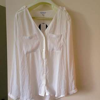 White Cotton On Shirt/blouse Size XS