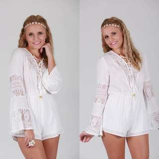 Reverse Bell Sleeve Playsuit