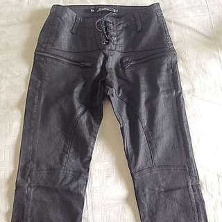 Zara Leather Look Pants Size 34