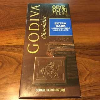 保留中 Godiva 85%黑巧克力磚